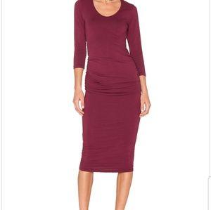 New-Michael Stars Ruched Jersey Dress